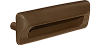 Kwalu Hardware - Recessed Pull Brown
